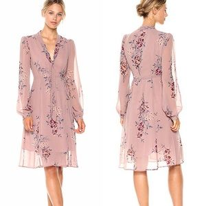 ASTR Tyra Floral Mauve Tie Waist Wrap Dress!